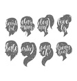 Set of female elegant silhouettes with different vector image vector image