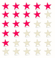 Simple Stars Set - Rating Symbols vector image vector image