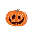 Smile Pumpkin Halloween Design Element Isolated vector image