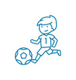 soccer competitions linear icon concept soccer vector image