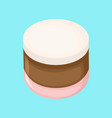 sweet round marshmallow vector image