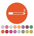 The smoking icon Cigarette symbol Flat vector image