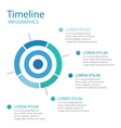 Timeline layout business vector image