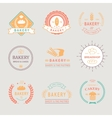 vintage retro bakery badgeslabels logos bread vector image