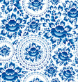 Vintage Seamless ornament pattern with blue vector image vector image