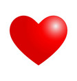 with valentine heart in red vector image vector image