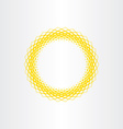 yellow sun abstract circle background vector image vector image