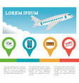 travel flyer infographic tourism vector image