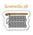 fashion patch element grandmother knitting vector image