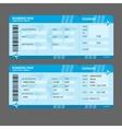 Modern Airline boarding pass tickets