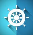 Rudder symbol vector image