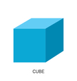 3d shape cube vector image vector image