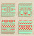 4 tribal seamless patterns vector image vector image