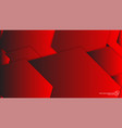 abstract background hexagon red light and shadow vector image vector image