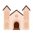 abstract cute church vector image
