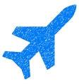 Aeroplane Grainy Texture Icon vector image vector image