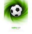 Background with soccer ball vector image vector image