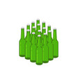 beer bottles stack 3d vector image