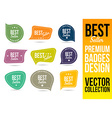 Best Seller Logo Badge Emblem vector image vector image