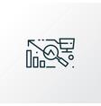 big data analysis icon line symbol premium vector image