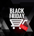 black friday sale design with cart icon vector image vector image