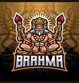 brahma esport mascot logo design vector image