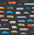 cartoon urban transport seamless pattern vector image