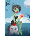 Cartoon zombie girl vector image vector image