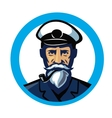 color captain icon vector image