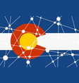 colorado flag concept vector image