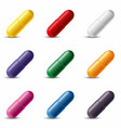 colorful pill capsules vector image vector image