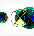 creative circles geometric abstract background vector image vector image