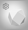cuboctahedron is a geometric figure hipster vector image vector image