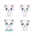 cute little polar bear mascot vector image
