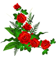 decoration with red rose vector image vector image