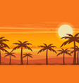 desert view egypt sunset flat vector image