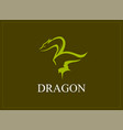 dragon tattoo symbol in green color vector image vector image