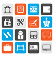 Flat Bank business and finance icons vector image