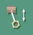 flat icon design collection piston scheme in vector image vector image