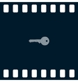 Flat paper cut style icon of an old key vector image vector image