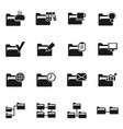 folder icon3 vector image vector image