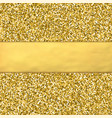 golden glitter background with golden foil babber vector image