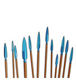 group of spears pointing skyward vector image