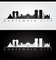 guatemala city skyline and landmarks silhouette vector image vector image