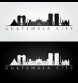 guatemala city skyline and landmarks silhouette vector image vector image
