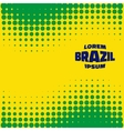 Halftone Background using Brazil flag colors vector image