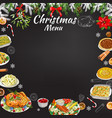 hand-drawn chalk restaurant festive menu template vector image