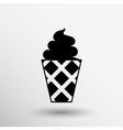 Ice cream logo icon frozen food vector image