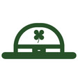 isolated leprechaun hat icon patrick day vector image