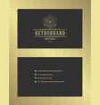 Luxury business card and golden vintage ornament